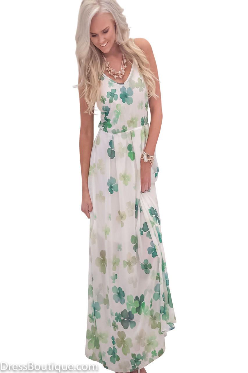 1dba78afaf69 Green Floral Maxi Dress