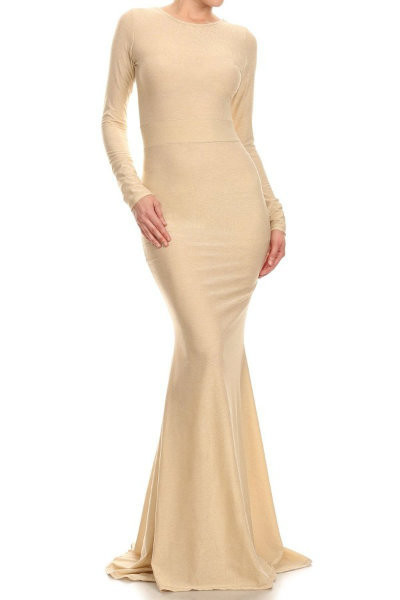 Long Sleeve Fitted Mermaid Dress