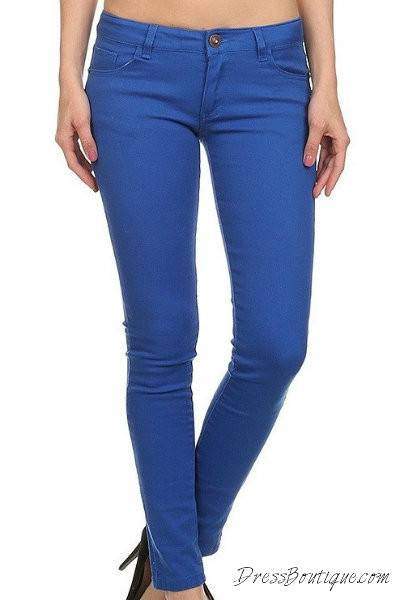 Royal Blue Fitted Jeans
