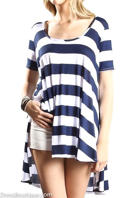 Navy Striped Tunic