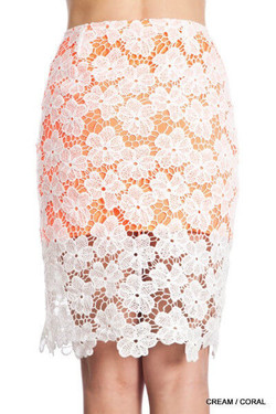 Lace Midi Pencil Skirt