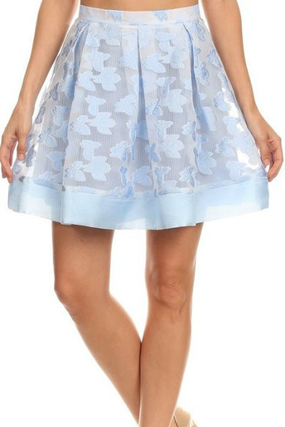 Sky Blue Mini Skirt
