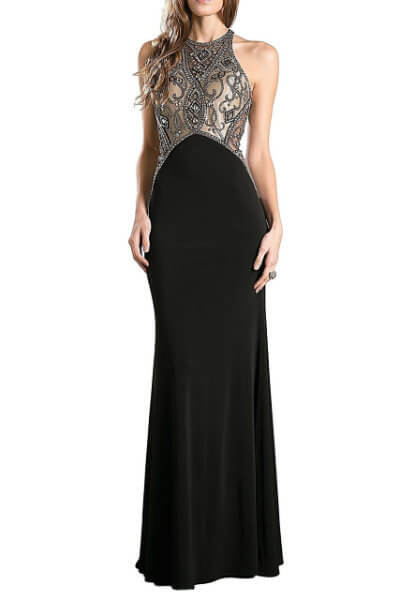 Black & Gold Evening Gown