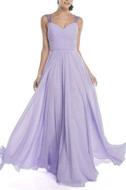 Elegant Lilac Evening Dress