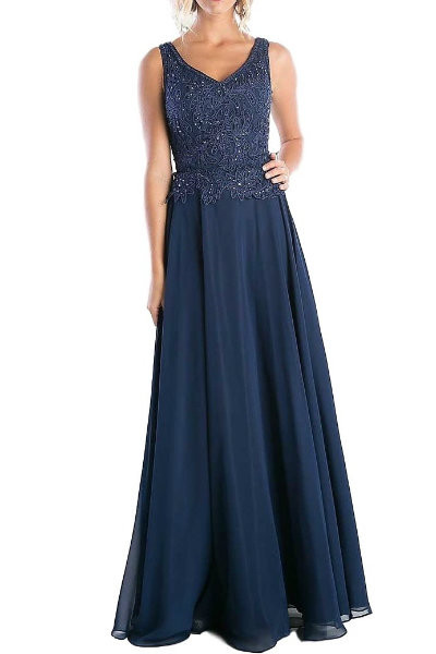 Chic Navy Evening Dress