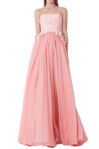Elegant Italian Pink Evening Dress