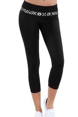 Tribal Capri Yoga Pants