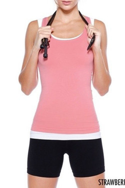 Perfect Fit Coral Workout Top