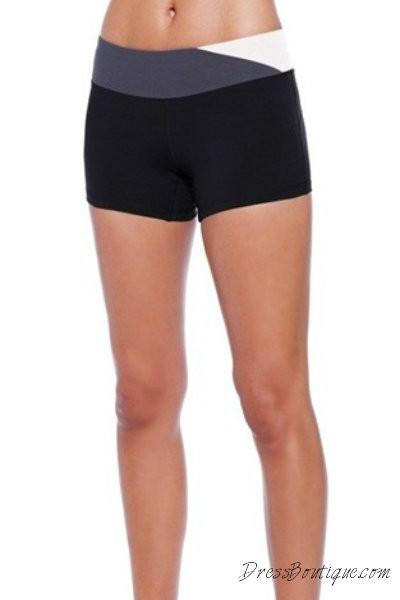 White Trim Workout Shorts