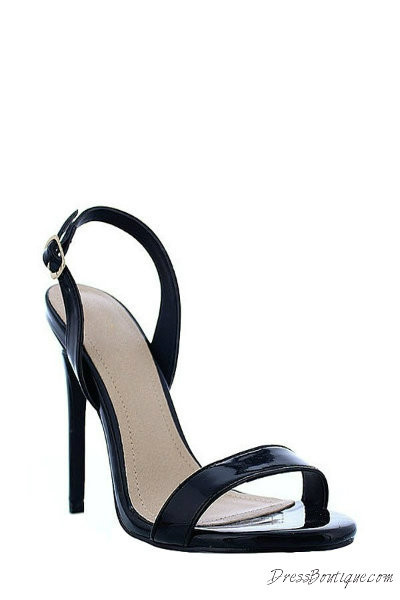 268ac63ed22 Black Open Toe Slingback Heels