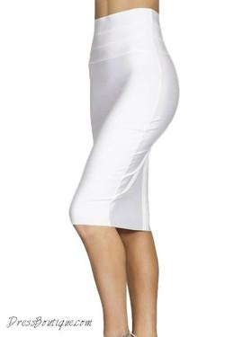 White Bodycon Pencil Skirt