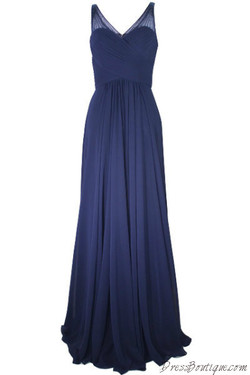Elegant Navy Evening Dress