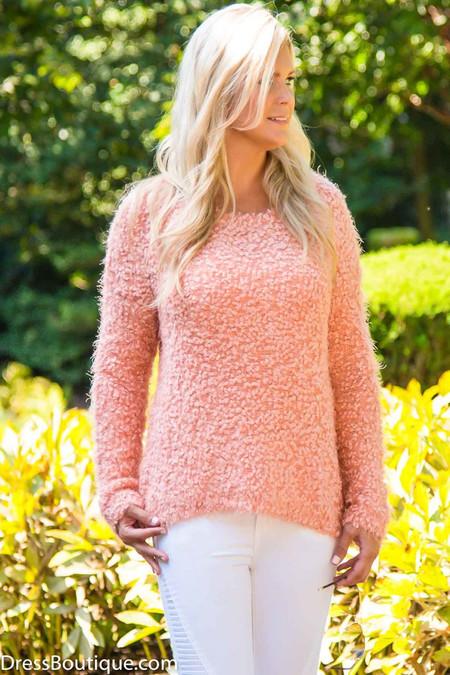 Pink Popcorn Sweater