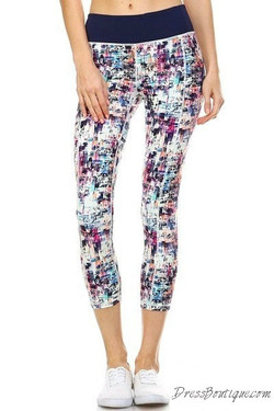 Wild Plaid Capri Yoga Pants