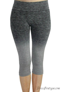 Grey Ombre Capri Workout Pants