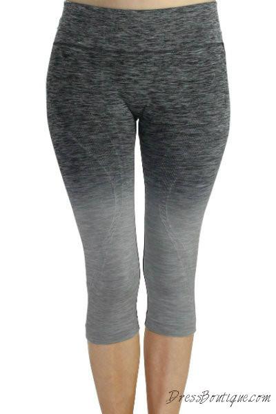 Grey Ombre Capri Workout Pants