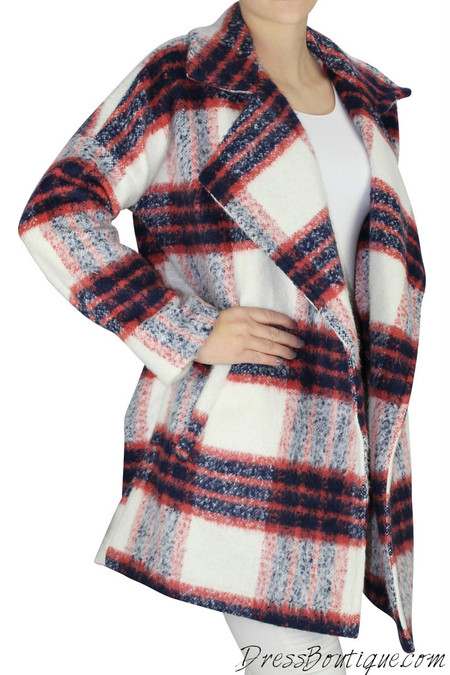 Red Plaid Women's Jacket
