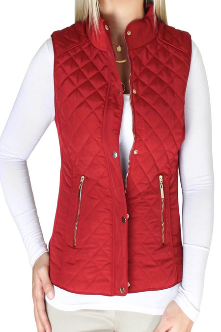 Red Quilted Vest