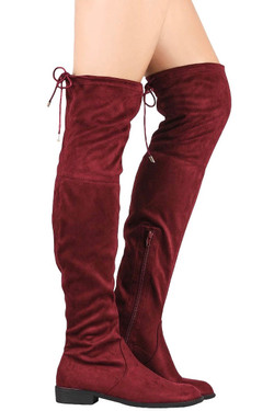 Bordeaux Over the Knee Boots