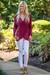 Maroon Wrap Sweater