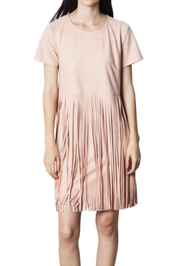 Blush Suede Dress