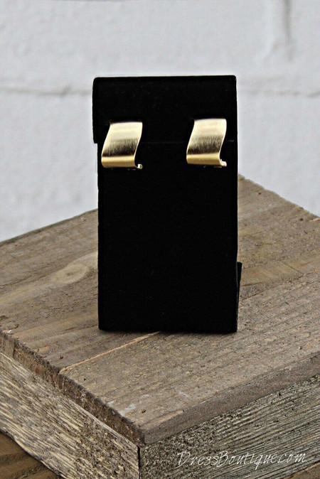 Asymmetric Satin French Clip Earrings