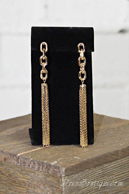 Gold Waterfall Earrings