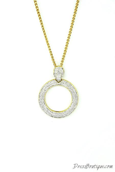 Zirconia Studded Necklace