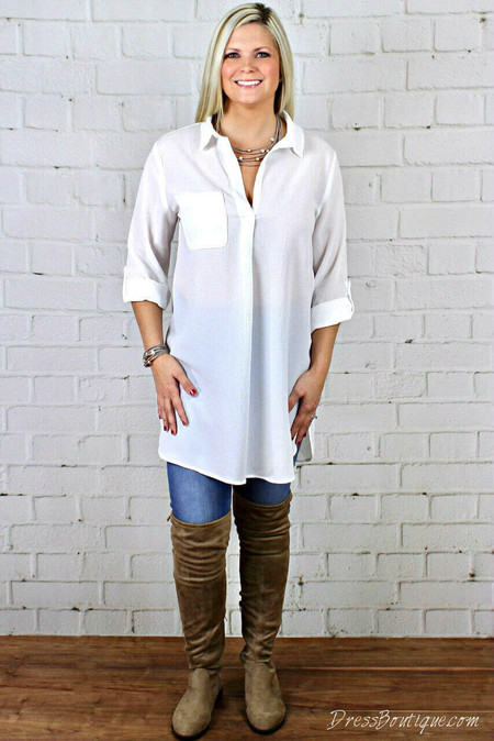White Layering Shirt