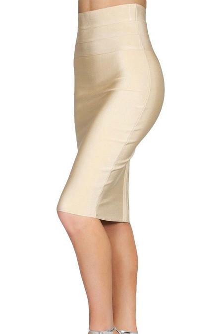 Beige Bodycon Skirt