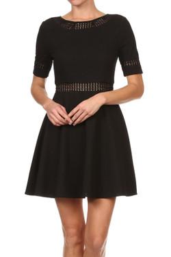 Black Fit & Flare Dress