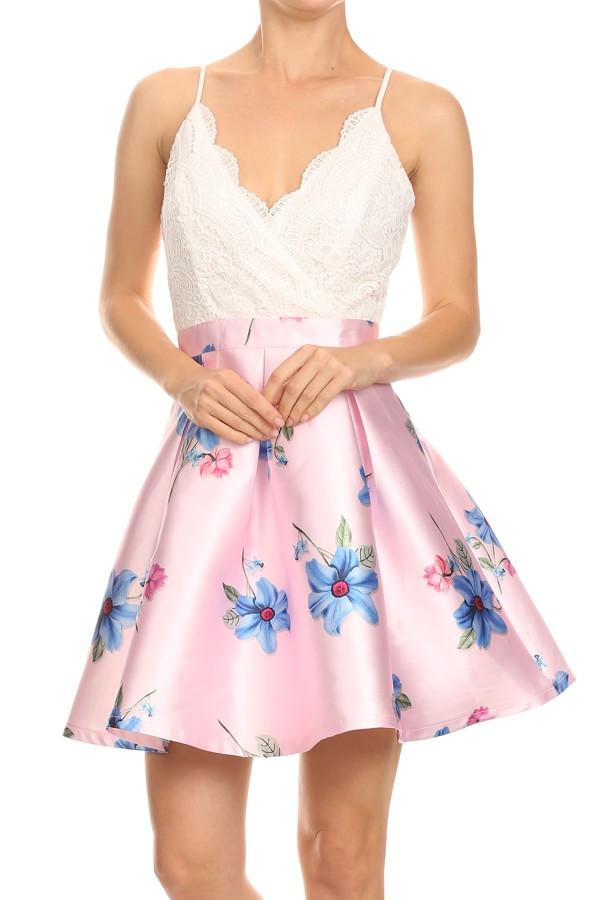 233cdea5191b2 Pink Lace Summer Dress