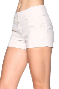 Women's Beige Shorts