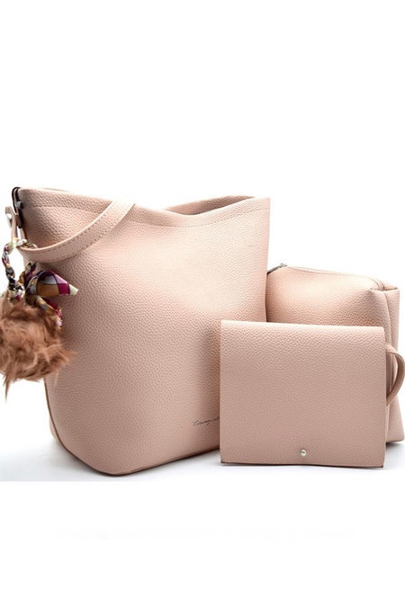 Blush 3 In 1 Leather Shoulder Bag