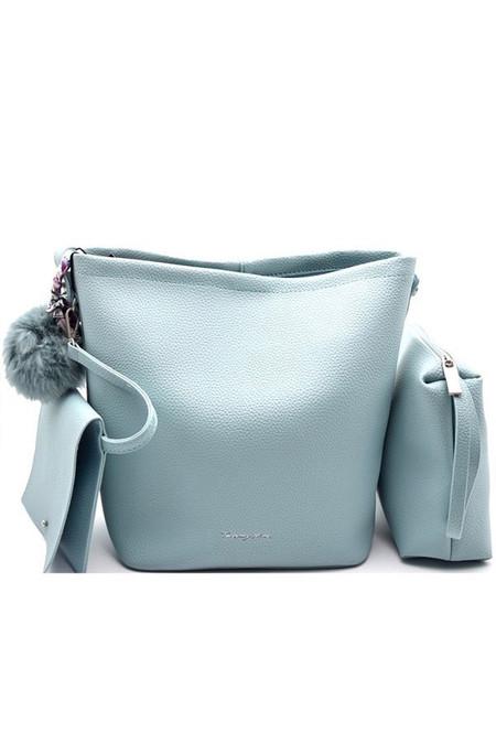 Light Blue 3 In 1 Leather Shoulder Bag