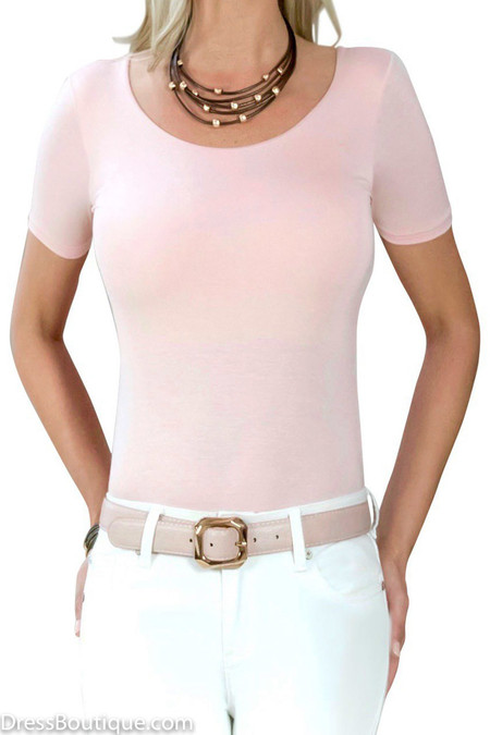 Blush Tailored T-Shirt