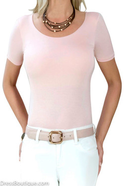 Blush Tailored T-Shirt