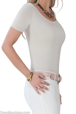 Beige Tailored T-Shirt