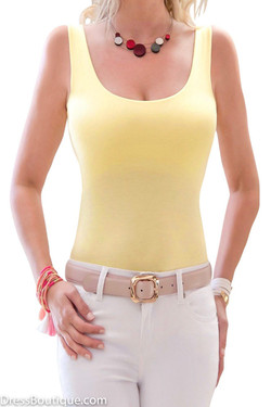 Yellow Italian Tank Top
