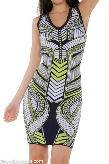 Jacquard Bodycon Dress