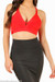 Lux Red Bandage Crop Top
