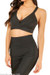 Lux Black Bandage Crop Top