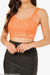 Orange Caged Bandage Crop Top
