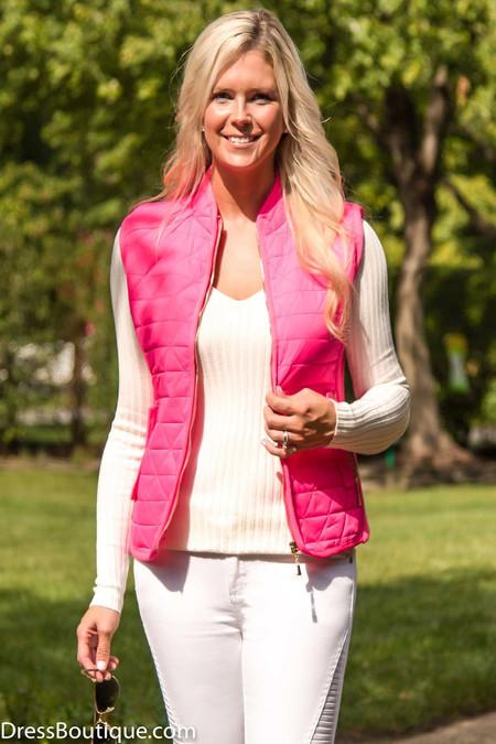 Neon Pink Padded Vest