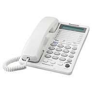 Panasonic KX-TS208 2-Line Analog Speaker Display Phone - White (KX-TS208W)