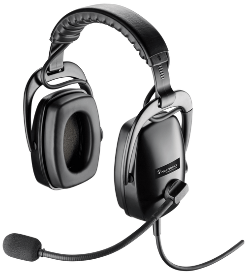 Plantronics SHR 2301-02 Wired Rugged Binaural Noise Cancelling Aviation Headset (92301-02)