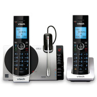 Vtech 2 Handset Connect to Cell™ Answering System with Cordless Headset (DS6771-3)