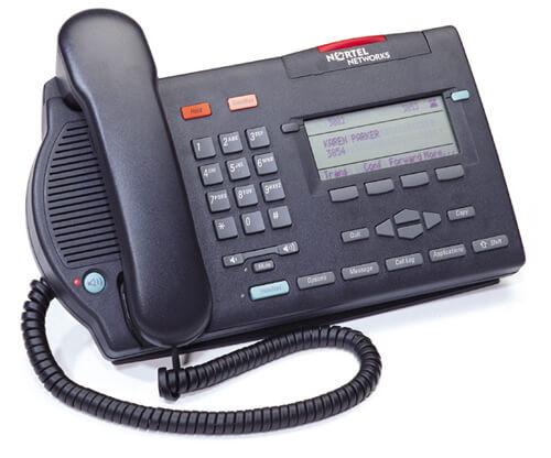 Nortel M3903 Digital Telephone - Black/Charcoal - Refurbished (NTMN33GA)