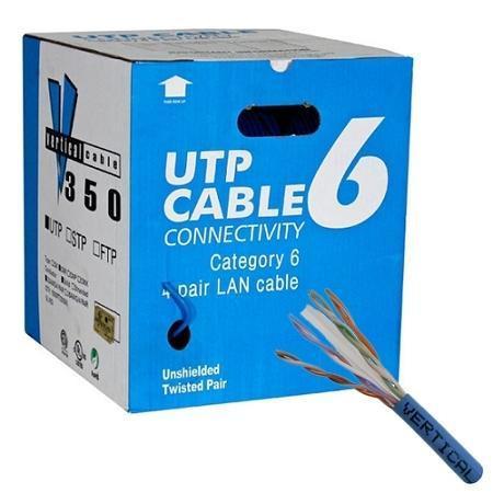 CAT6 UTP 23AWG FT4 305m / 1000 feet Box Cable - Yellow (CAT6BOX-YELLOW)