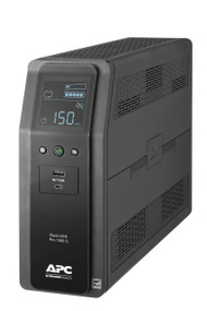 APC Back UPS PRO BR 1500VA, SineWave, 10 Outlets, 2 USB Charging Ports (BR1500MS)